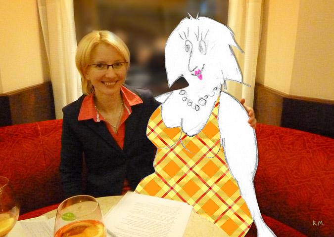 IM Eva Moser mit Frau Schach