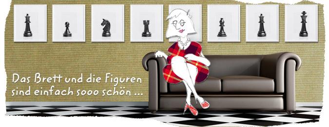 Frau Schach in Ihrem Schach Interieur