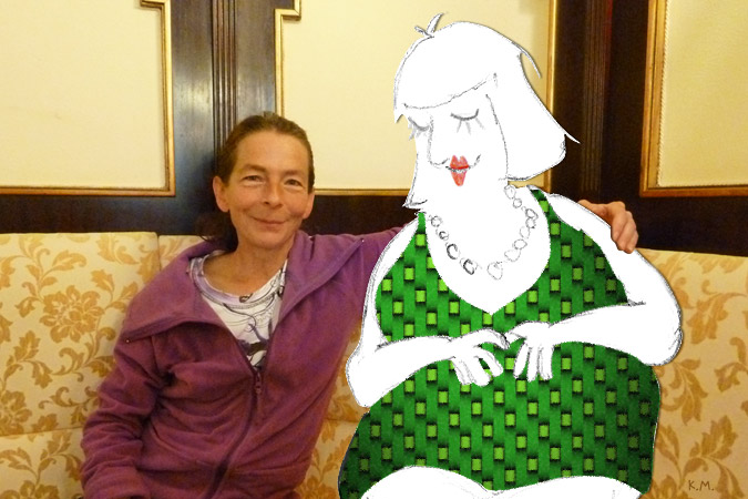 WFM, vierfache Staatsmeisterin Jutta Borek mit Frau Schach